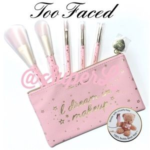 2/$15 Too Faced Dream In Makeup Bag Beauty Pouch